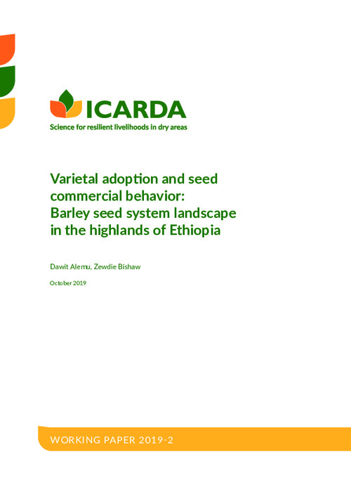 Varietal adoption and seed commercial behavior: Barley seed system landscape in the highlands of Ethiopia