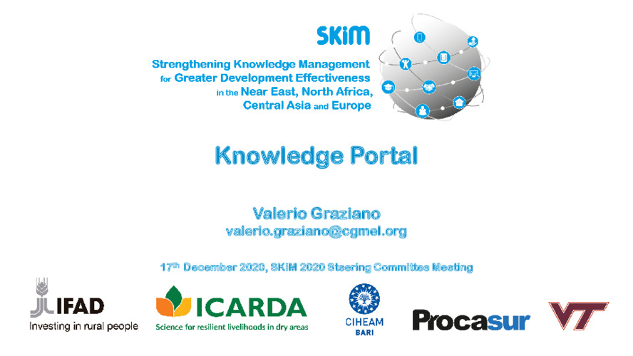 SKiM SC 2020 PPT - Knowledge Portal