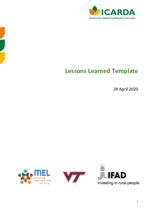 SKiM - Lessons Learned Template