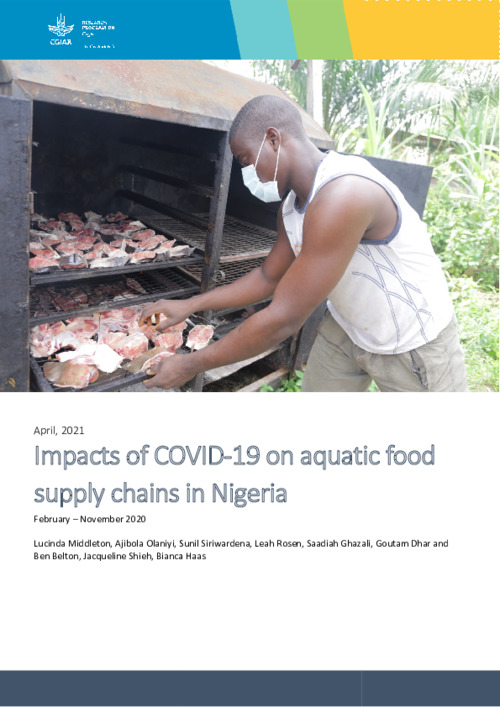 Impacts of COVID-19 on aquatic food supply chains in Nigeria  February – November 2020