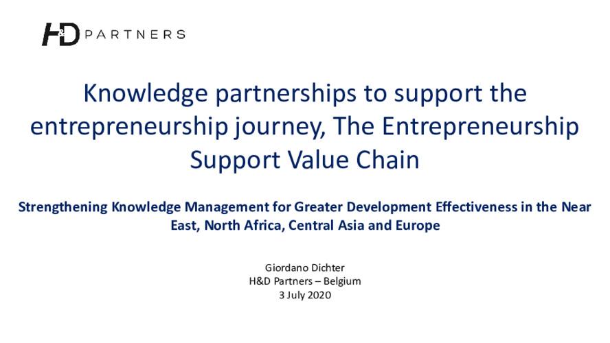 2020 SKiM Learning Week - The Entrepreneurship Support Value Chain