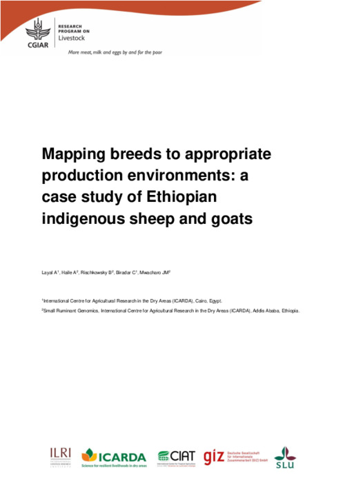 Mapping breeds to appropriate production environments: a case study of Ethiopian indigenous sheep and goats