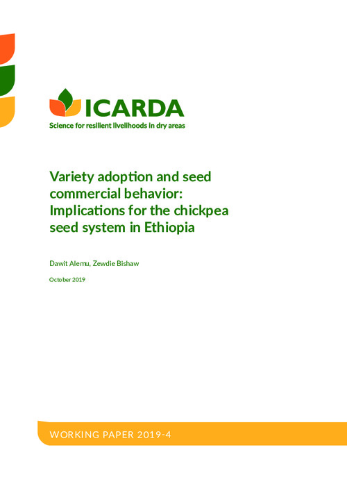 Variety adoption and seed commercial behavior: Implications for the chickpea seed system in Ethiopia