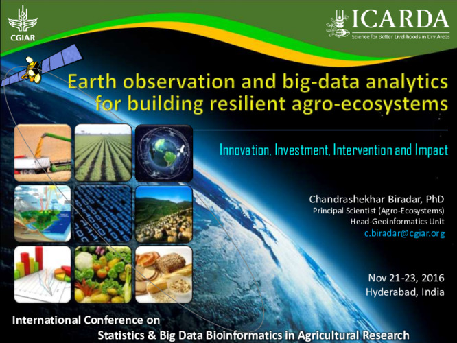 Earth observation and big-data analytics for building