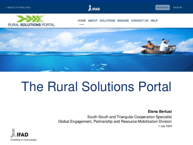 2020 SKiM Learning Week - Rural Solutions Portal