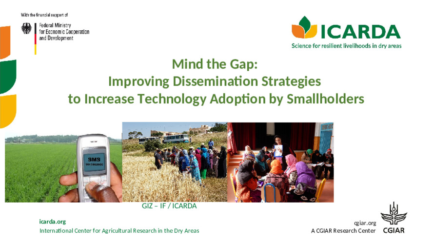 Mind the Gap:  Improving Dissemination Strategies  to Increase Technology Adoption by Smallholders