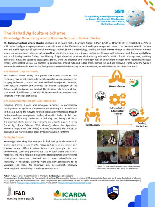 SKiM - Rahad Agricultural Scheme (RAS) Poster