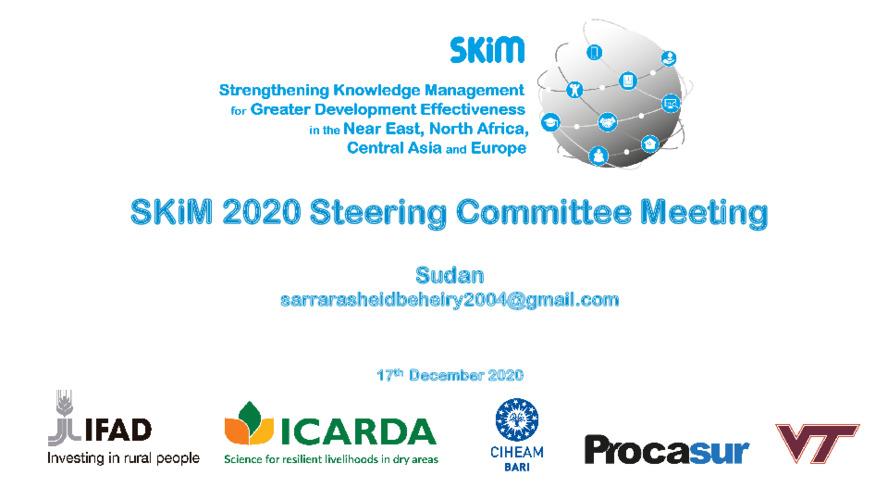 SKiM SC 2020 PPT - Sudan